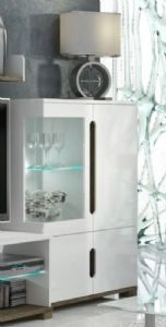 Coastal White Gloss Low Dispaly Cabinet