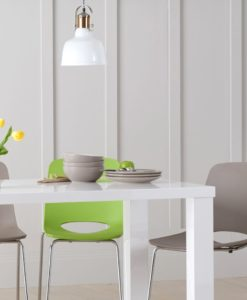 Ava 200cm White High Gloss Dining Table 8