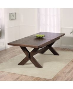 Avignon dark 200cm extending solid oak dining table 240cm 1