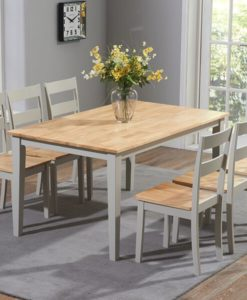 Chichester 150cm Oak Grey Dining Table 4