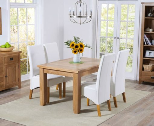 York 130cm Oak Extending Dining Table 6