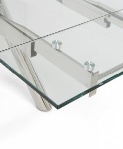 Cameron 180cm Extending Glass Table 2