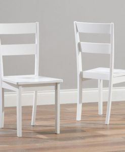 Chichester Solid Hardwood Painted White Dining Chairs