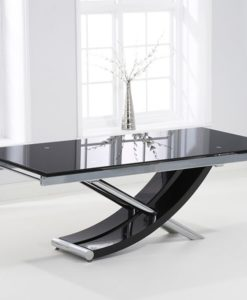 Hanover 210cm Glass Extending Dining Table 2
