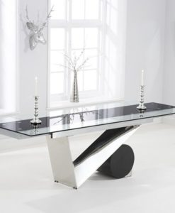 Peru 170cm Glass Extending Dining Table 2