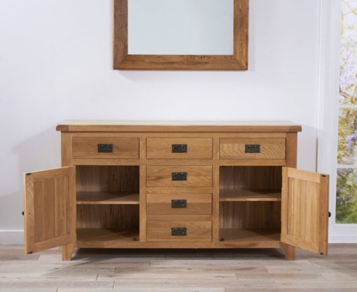 York 150cm oak 2 door 6 drawers sideboard 9