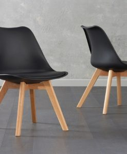 Danni Black Faux Leather Dining Chair Pairs 1