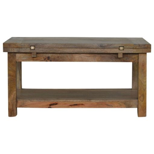 Artisan Trilogy Hardwood Coffee Table with 1 Shelf 1