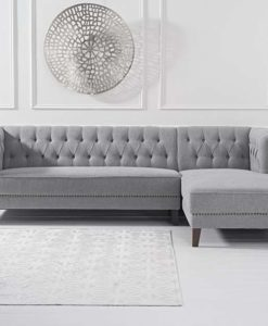 tino grey linen right facing chaise sofa2